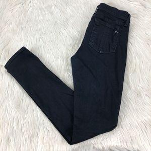 Rag & Bone Dark Wash Distressed Skinny Jeans